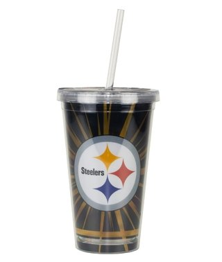 Copo Com Canudo Pittsburgh Steelers - 480ml - Nfl