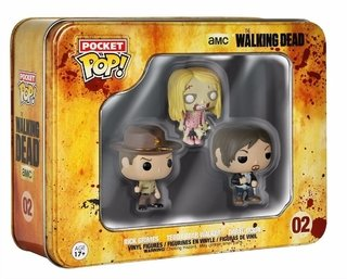 Daryl, Rick & Walker The Walking Dead Pocket Pop Lata Funko
