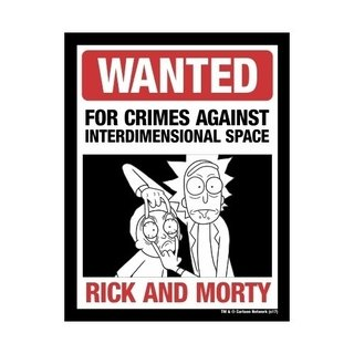 Placa Decorativa Wanted Rick And Morty - Legião Nerd