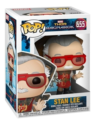 Boneco Funko Pop Marvel Thor Ragnarok Stan Lee 655
