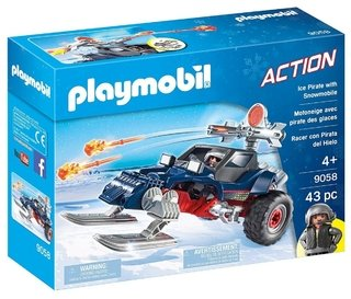 Playmobil Action Pirata Do Gelo Com Moto 9058 Sunny