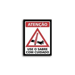 Placa Decorativa Use O Sabre Com Cuidado  - Legião Nerd