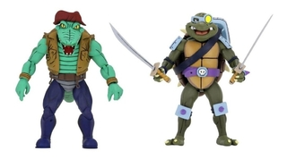Slash Vs. Leatherhead Cartoon Tmnt 7´´ Scale Neca