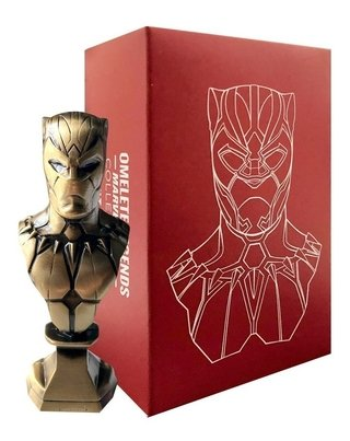 Pantera Negra Mini Busto Metal Vibranium Collection Omelete