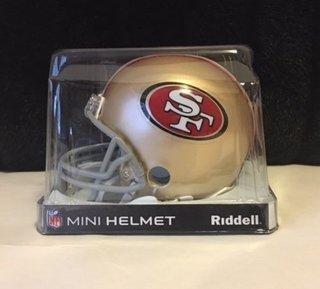 San Francisco 49ers Mini Capacete 1/4 Speed Nfl Riddell