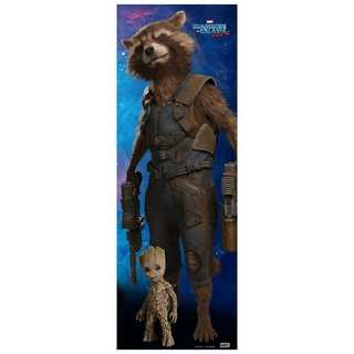 Rocket E Groot Poster Guardiões Da Galáxia Vol 2 Omelete Box