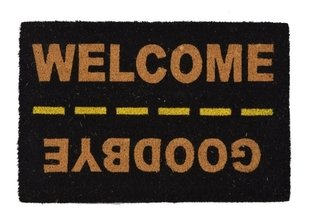 Capacho Geek Welcome Goodbye Fibra Coco 60x40
