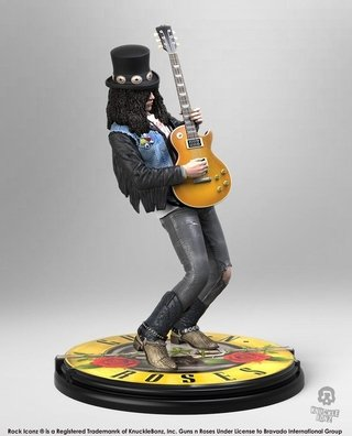 Estátua Slash 1/9 Guns N' Roses - Knucklebonz Rock Iconz