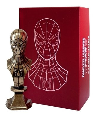 Homem Aranha Mini Busto Metal Vibranium Collection Omelete