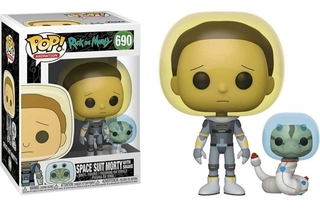 Boneco Funko Pop Rick And Morty Space Suit Morty W Snake 690