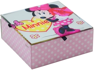 Porta Joias Minnie Mouse Rosa Disney 8248