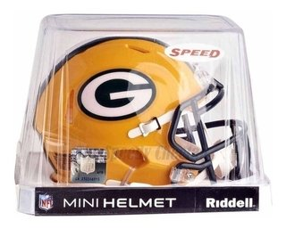 Green Bay Packers Mini Capacete 1/4 Speed Nfl Riddell