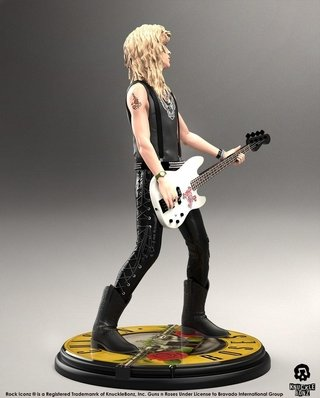 Estátua Duff Mckagan 1/9 Guns N Roses Knucklebonz Rock Iconz