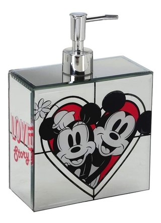 Dispenser Saboneteira Love Story Minnie E Mickey Cod 8309