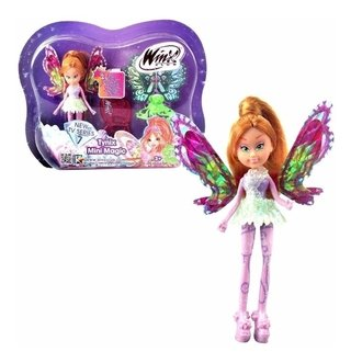 Boneca Winx Club - Tynix Mini Magic - Flora 12 Cm - Wxmm001