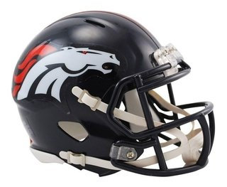 Denver Broncos Mini Speed Capacete 1/4 Nfl Riddell