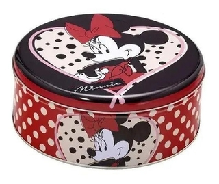 Lata De Metal Decorativa Minnie Mouse 20 Cm Mabruk 458004