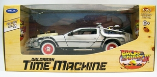 De Volta Para O Futuro Back The Future 3 Delorean Welly 1/24