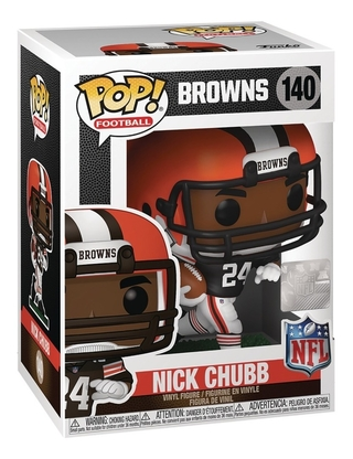 Boneco Funko Pop Football Nfl Browns Nick Chubb 140
