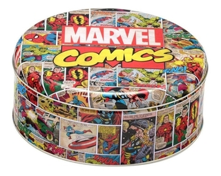 Lata De Metal Decorativa Marvel Comics 20 Cm Mabruk 458007