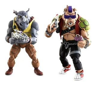 Figura Bebop E Rocksteady Cartoon Tmnt 7´´ Scale Neca