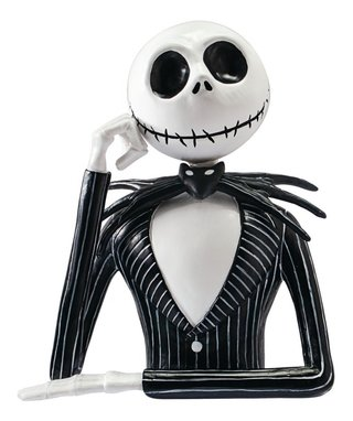 Busto Cofre Jack Skellington Monogram - Bust Bank Cofrinho