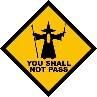 Placa Decorativa You Shall Not Pass - Legião Nerd