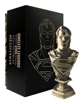 Superman Mini Busto De Metal Steel Legends Omelete Box