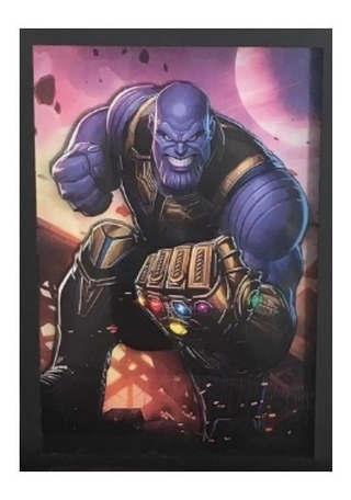 Quadro Decorativo 3d Thanos 32x23 Cm
