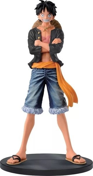 One Piece Jeans Black Freak Vol 1 Monkey D Luffy Banpresto