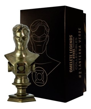 Lanterna Verde Mini Busto De Metal Steel Legends Omelete Box