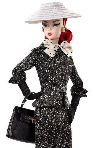 Boneca Barbie Silkstone Black & White Tweed Suit Mattel