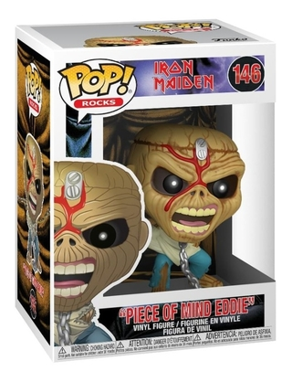 Boneco Funko Pop Rocks Iron Maiden Piece Of Mind Eddie 146