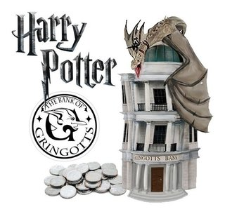 Busto Cofre Harry Potter Monogram Banco Gringotes Gringotts