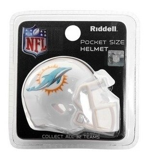 Miniatura Capacete Nfl Miami Dolphins - Riddell