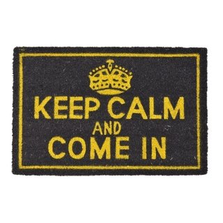 Capacho Geek Keep Calm And Come In Fibra Coco 60x40
