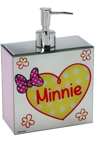 Dispenser Sabonete Minnie Mouse Saboneteira Cod 8262