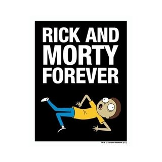 Placa Decorativa Rick And Morty Forever! - Legião Nerd
