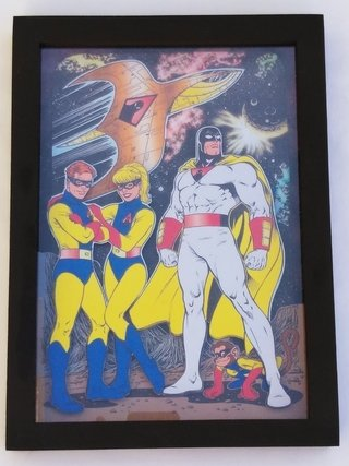 Quadro 3d Space Ghost 32x23 Cm - Hanna Barbera
