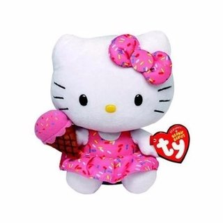 Pelucia Ty - Beanie Babies Hello Kitty Ice Cream - 16 Cm