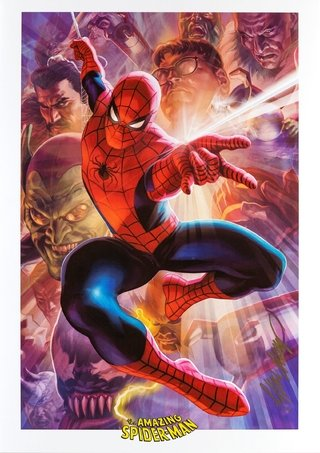 Print The Amazing Spiderman - autografado por Felipe Massafera - 42 cm x 30 cm