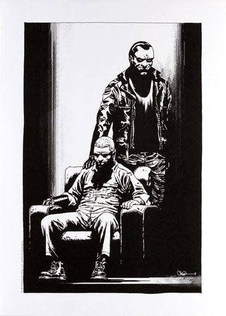 Print The Devil On Your Shoulder - The Walking Dead - autógrafo impresso de Charlie Adlard 42cm x 30cm