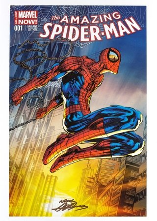 Print The Amazing Spiderman Variant - autografado por Neal Adams - 42 cm x 30 cm