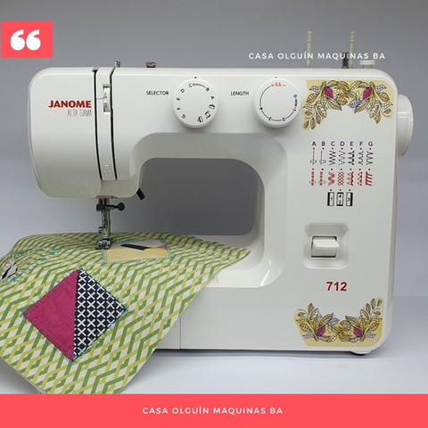 Janome 712 Automática + Pie De Bies Regulable D Regalo Bonus