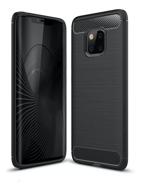 Funda Tpu Fibra Carbono Rugged Huawei Mate 20 + Templado