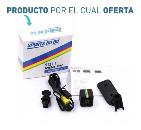Mini Camara Espia Oculta Full Hd 1080p Night Vision Sq11 - tienda online