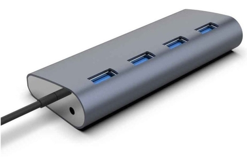 Hub 4 Puertos Usb 3.0 Aluminium Super Speed 5gbps Led