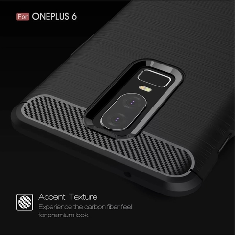 Funda Tpu Fibra Carbono Rugged One Plus Oneplus 6 + Templado - tienda online