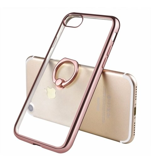 Funda Tpu Metalizada Anillo iPhone 5s 6s 7 8 Plus + Templado - Pandashop