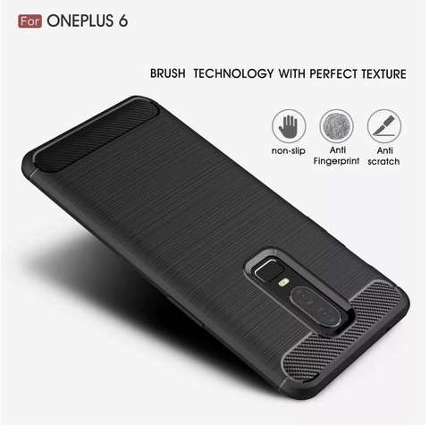Funda Tpu Fibra Carbono Rugged One Plus Oneplus 6 + Templado en internet